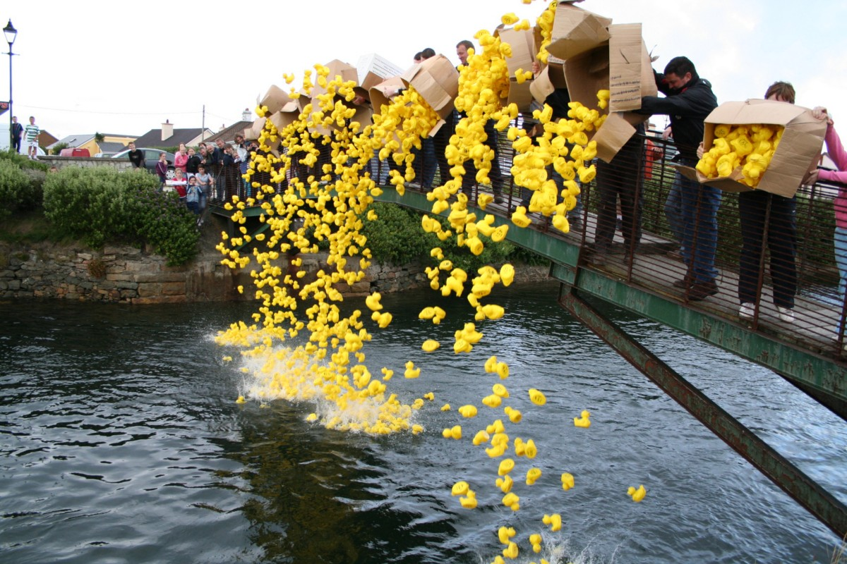 And away they go   Duck Race