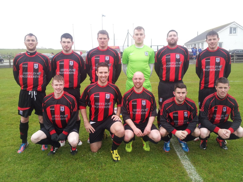 Erris United, playing in the rain.