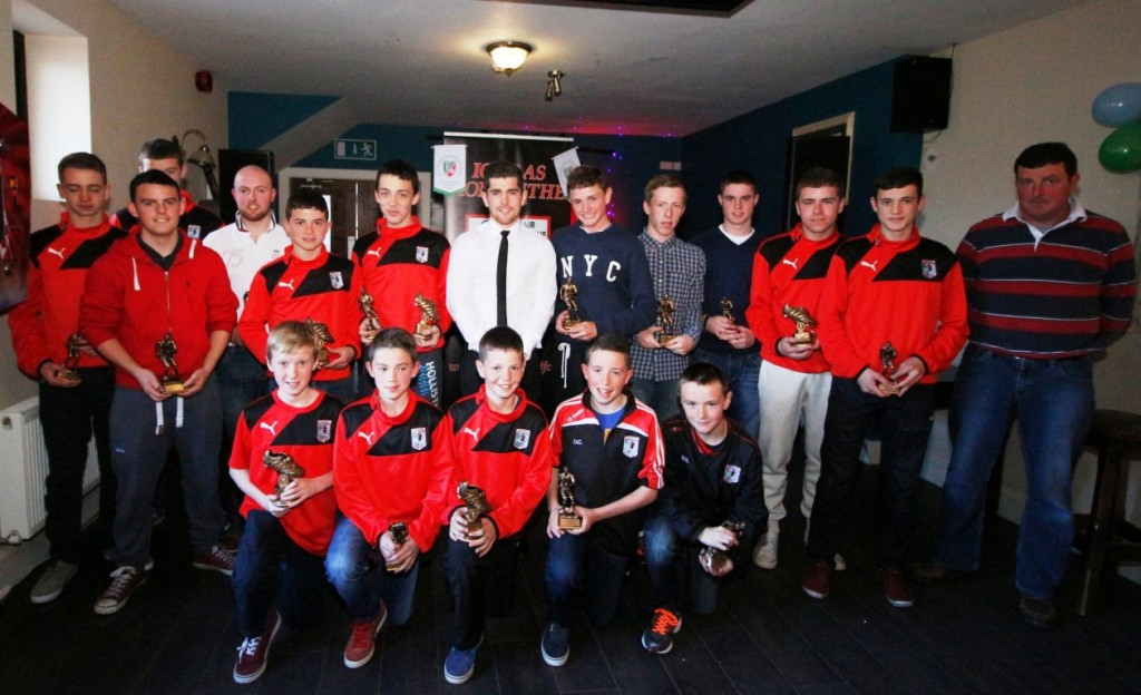 Ronan with the award winners along with Club Chairman Michael Dixon. Congratulations to everyone