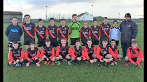 Iorras Aontaithe U15 with their Manager Harry Reilly