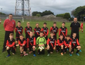 Iorras U12 with Managers, Lenny Gilbert & Andrew Bailen.